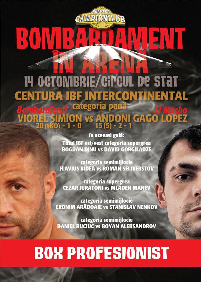 Gala de box Noaptea Campionilor - Bombardament in arena  - 14 octombrie 2016