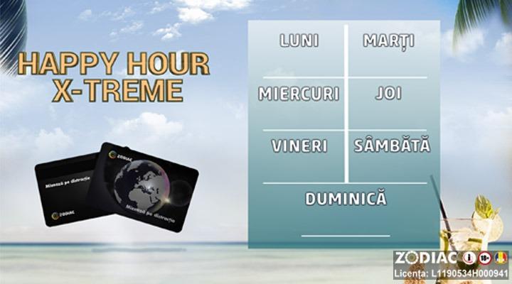 Urmărește Calendarul Happy Hour X-treme si obține de 5 ori mai multe puncte
