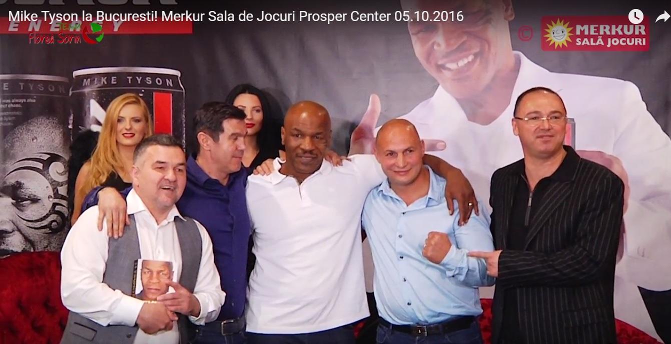 Mike Tyson în vizită la Merkur Sală Jocuri Prosper Bucureşti 05.10.2016