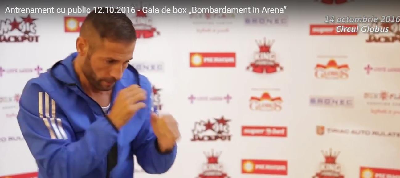 """Antrenamentul oficial pentru Gala de Box profesionist """"Bombardament in Arena"""", din data de 14 octombrie 2016"""
